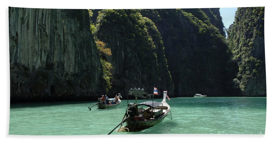 Phuket Bath Sheet featuring the photograph Krabi Island Thailand by Bob Christopher