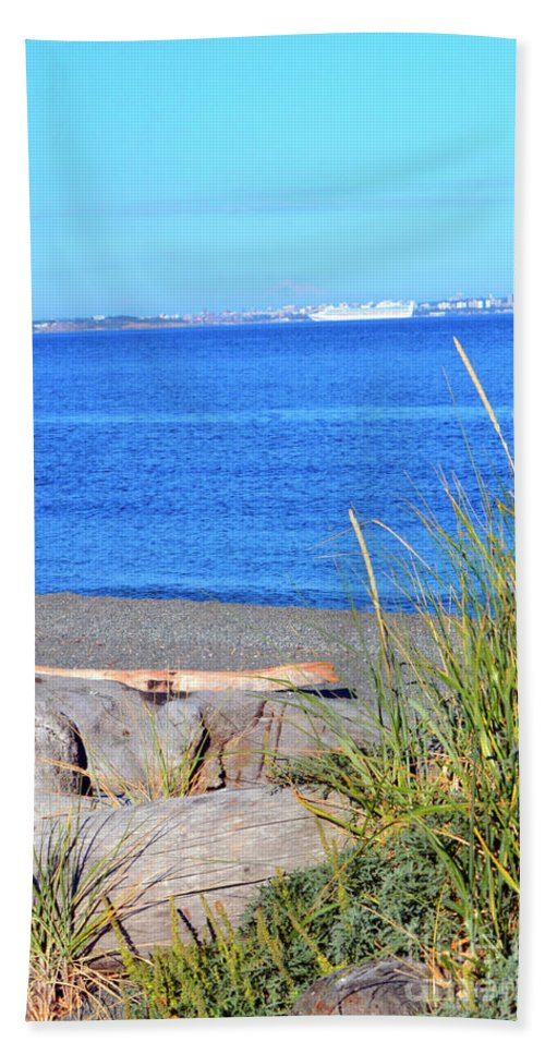 British Columbia Hand Towel featuring the photograph Lagoon 2 by Traci Cottingham