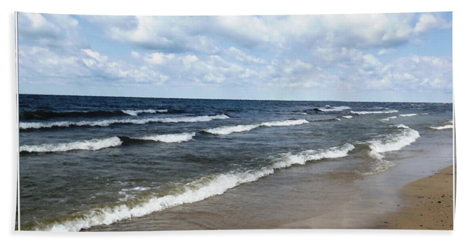 Evangola State Park Hand Towel featuring the photograph Lake Erie At Evangola State Park by Rose Santuci-Sofranko