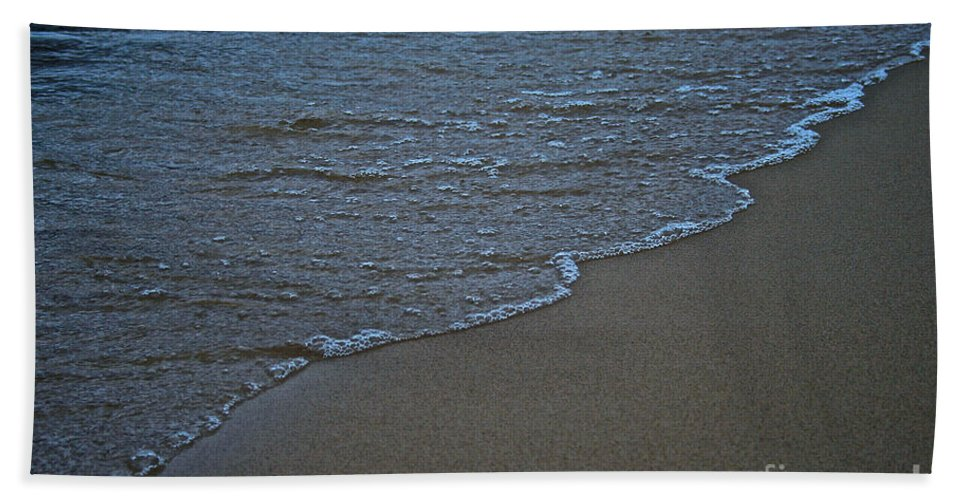 Lake Michigan Bath Sheet featuring the photograph Lake Michigan Beach by Susan Herber