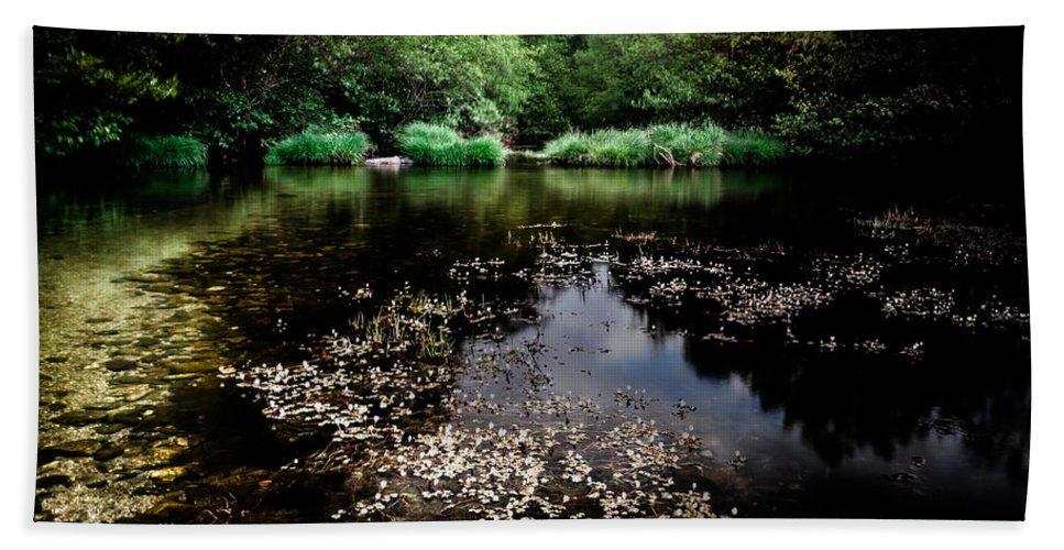 Lake Bath Sheet featuring the photograph Lake Of Spirits by Edgar Laureano