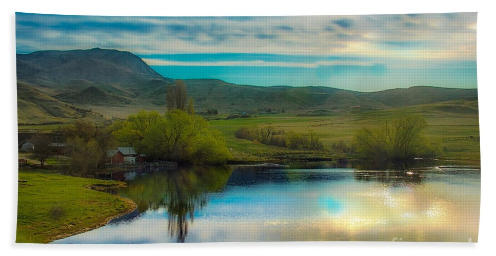 Ranch Hand Towel featuring the photograph Lake Ranch by Robert Bales