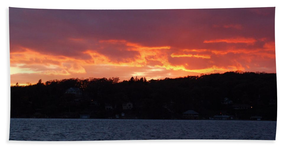 Water Bath Sheet featuring the photograph Lake Sunset by Richard Bryce and Family