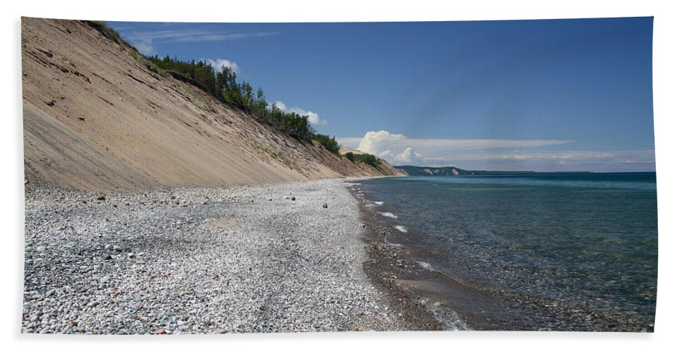 National Park Hand Towel featuring the photograph Lake Superior by Ted Kinsman