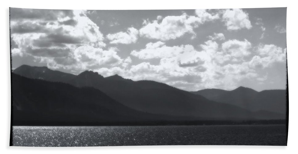 Lake Tahoe Bath Sheet featuring the photograph Lake Tahoe Heavenly by Linda Dunn