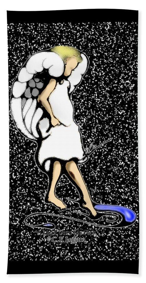 Stars Bath Sheet featuring the digital art A Lamp Unto My Feet by C F Legette