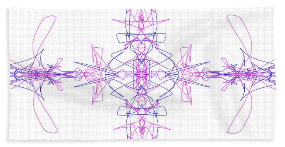 Fractal Bath Sheet featuring the digital art Landing Zone by George Pedro