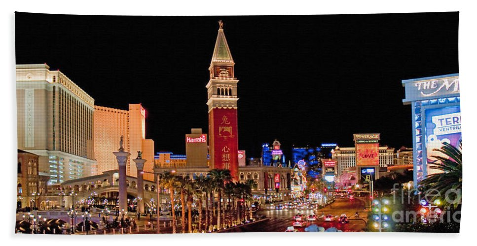 Nevada Bath Sheet featuring the photograph Las Vegas Canvas Panorama by Jim Chamberlain