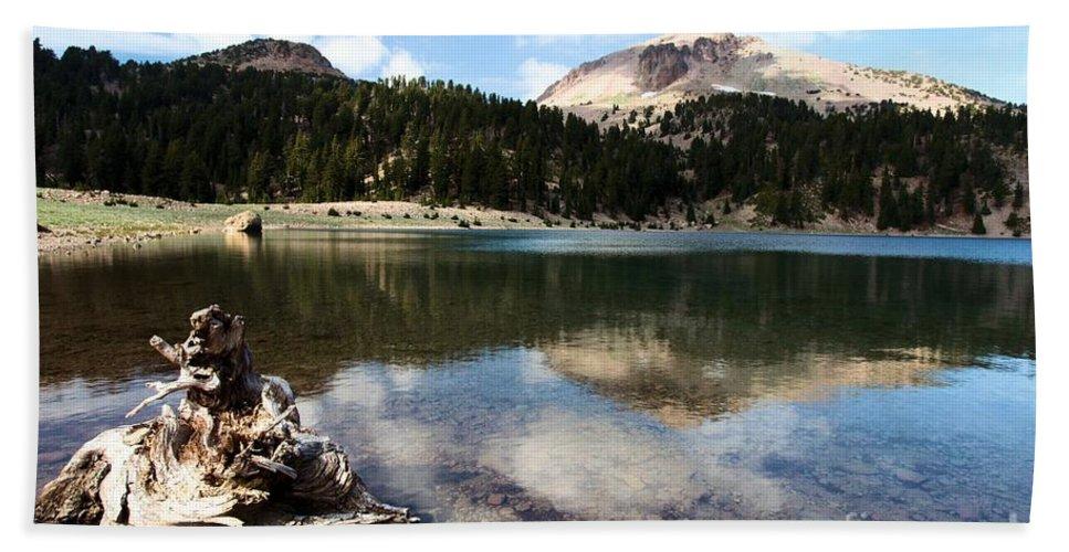 Lassen Volcanic National Park Bath Sheet featuring the photograph Lassen Mountain Lakes by Adam Jewell