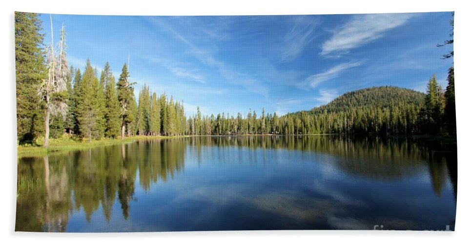 Summit Lake Bath Sheet featuring the photograph Lassen Park Blues by Adam Jewell