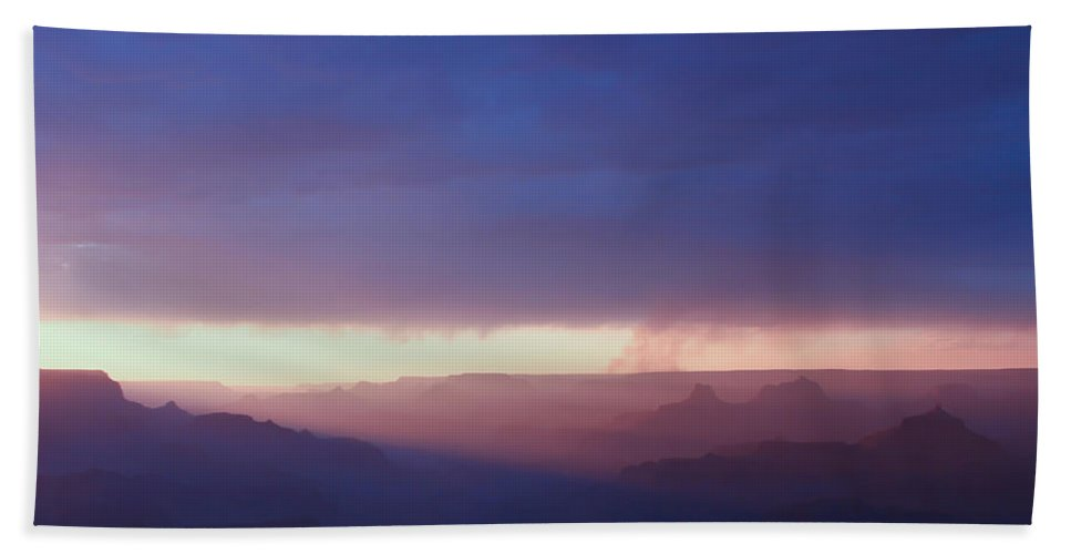 Purple Hand Towel featuring the photograph Last Light Of Day by Heidi Smith