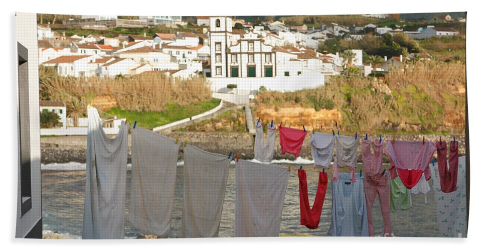 Azores Bath Sheet featuring the photograph Laundry Day In Azores by Gaspar Avila