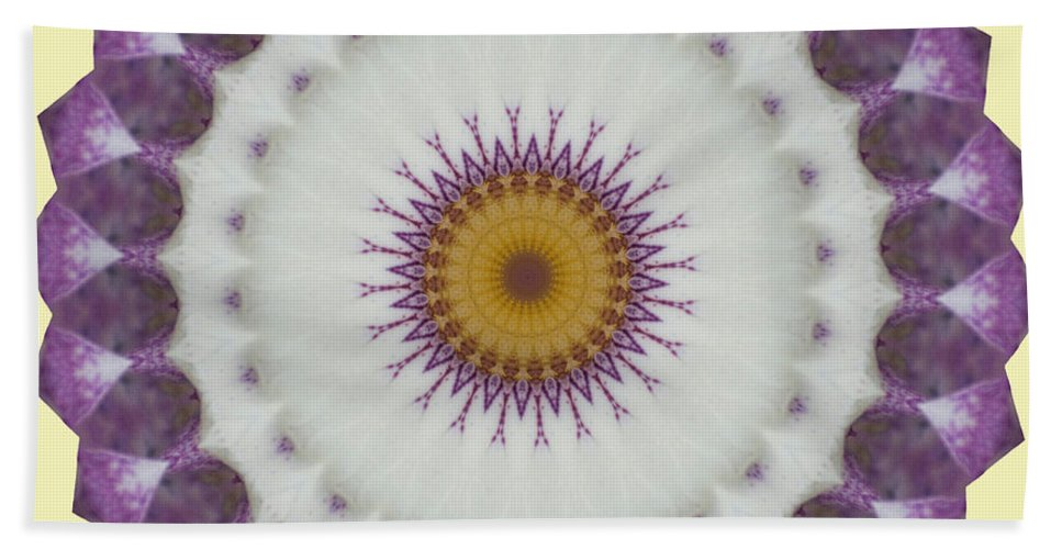 Purple Bath Sheet featuring the photograph Lavender And Yellow Kaleidoscope by Jim And Emily Bush