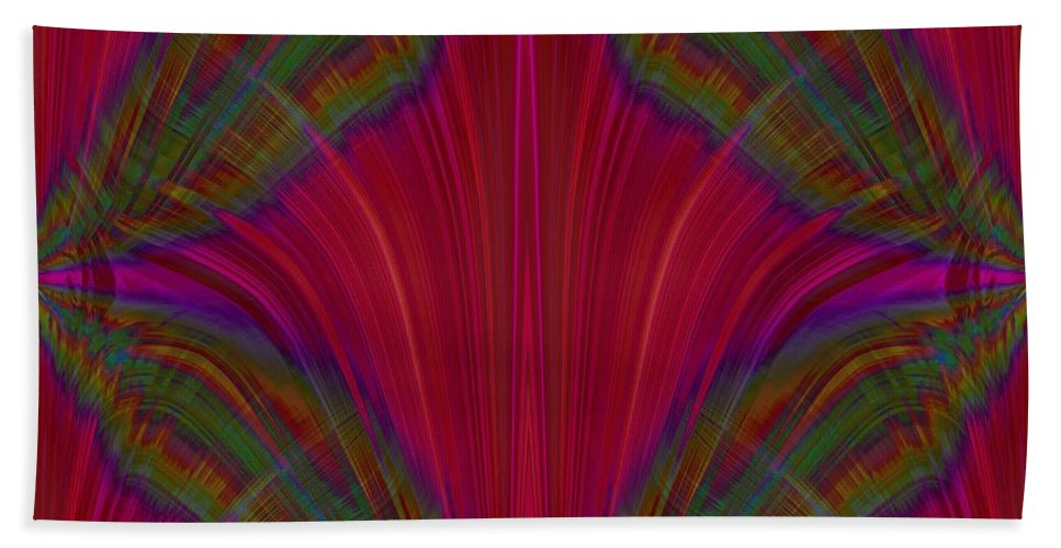 Abstract Hand Towel featuring the digital art Layers Of The Flame by Tim Allen