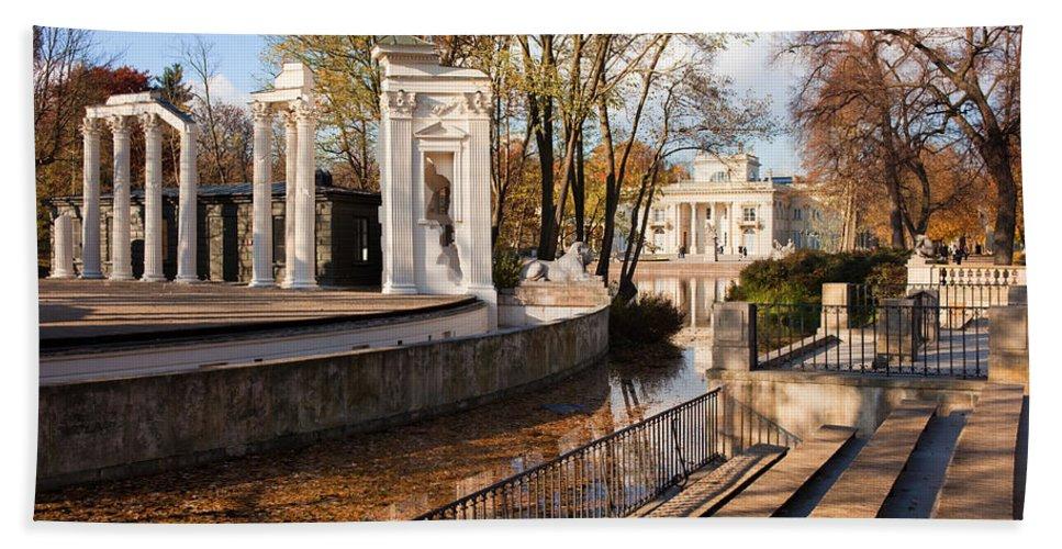 Lazienki Hand Towel featuring the photograph Lazienki Park In Warsaw by Artur Bogacki
