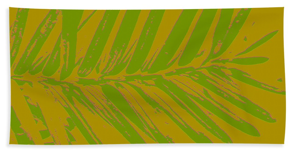 Nature Bath Sheet featuring the digital art Leafy Art I by Debbie Portwood