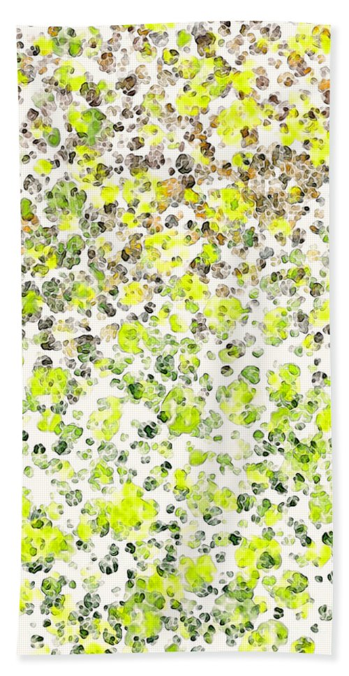 Abstract Hand Towel featuring the digital art Lemon Lime Abstract by Debbie Portwood