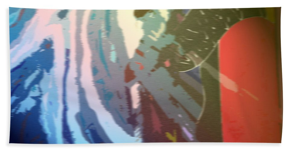 Abstract Bath Sheet featuring the photograph Let In A Little Light by Ian MacDonald