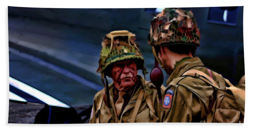 82nd Airborne Division Bath Sheet featuring the digital art Lets Go by Tommy Anderson