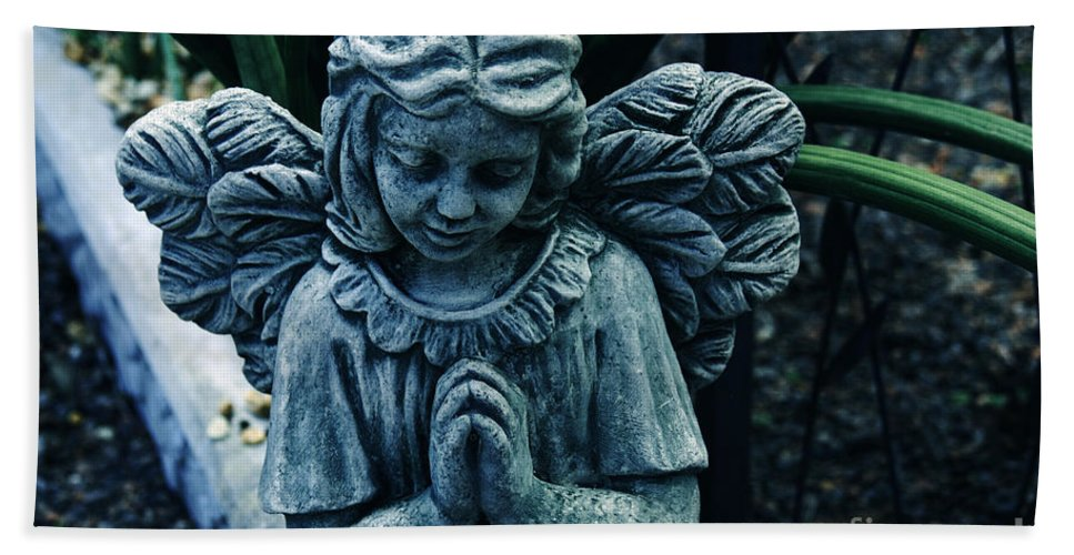 Angel Hand Towel featuring the photograph Lets Pray by Susanne Van Hulst