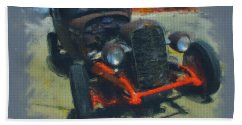 Car Hand Towel featuring the mixed media Let's Ride by Adam Vance