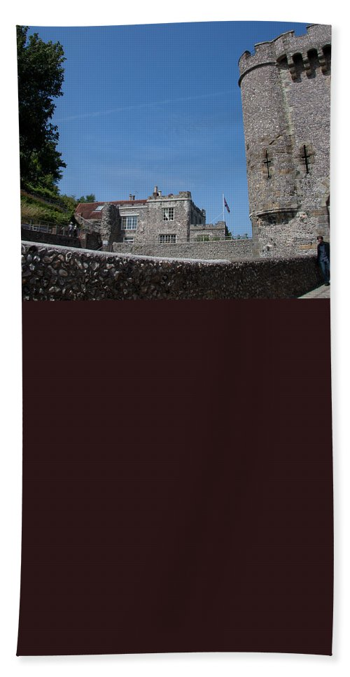 Lewes Castle Bath Sheet featuring the photograph Lewes Castle by Dawn OConnor