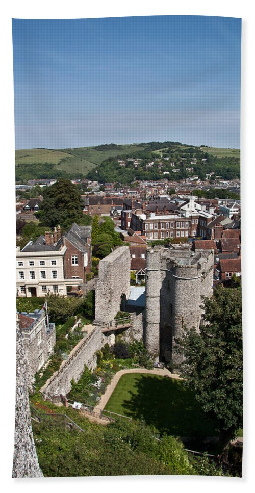 View Bath Sheet featuring the photograph Lewes East Sussex by Dawn OConnor
