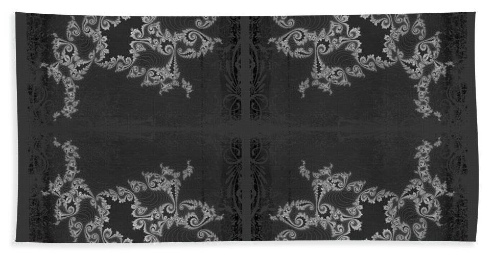 Fractal Hand Towel featuring the photograph Licorice And Lace by Mother Nature