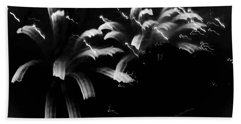 Fireworks Bath Sheet featuring the photograph Licorice Sky by DigiArt Diaries by Vicky B Fuller