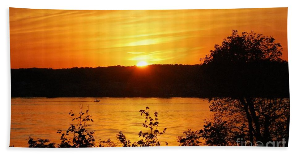 River Bath Sheet featuring the photograph Life On The Susquehanna by Debbi Granruth