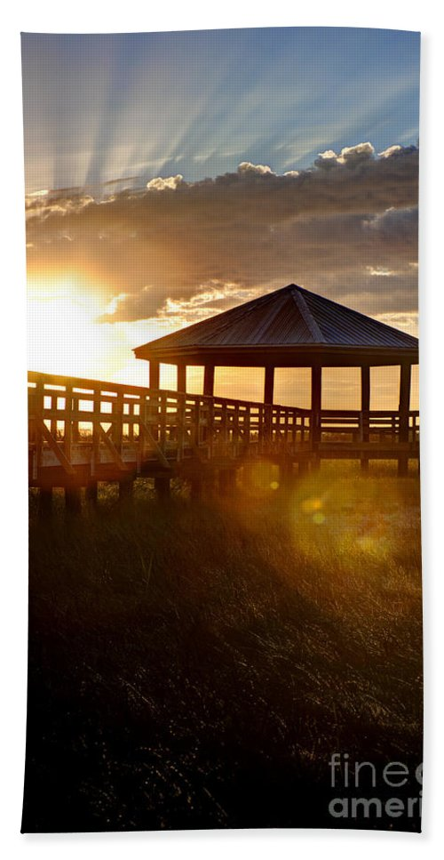 Sunrise Hand Towel featuring the photograph Light Of Life by Joan McCool