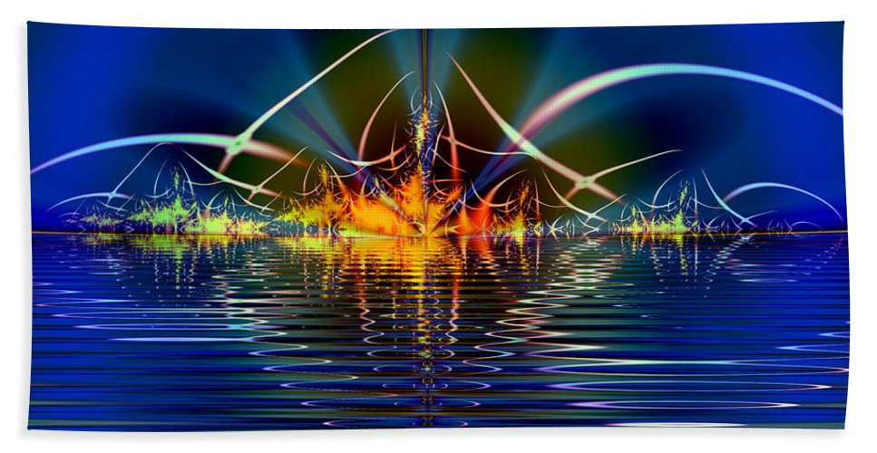 Water Bath Sheet featuring the digital art Light On The Water by Mario Carini