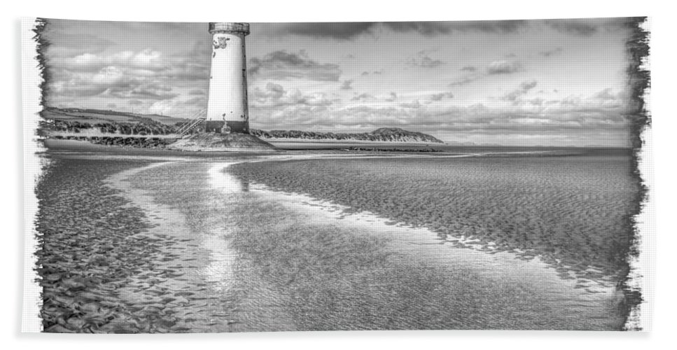 Lighthouse Bath Sheet featuring the photograph Lighthouse Reflected by Mal Bray