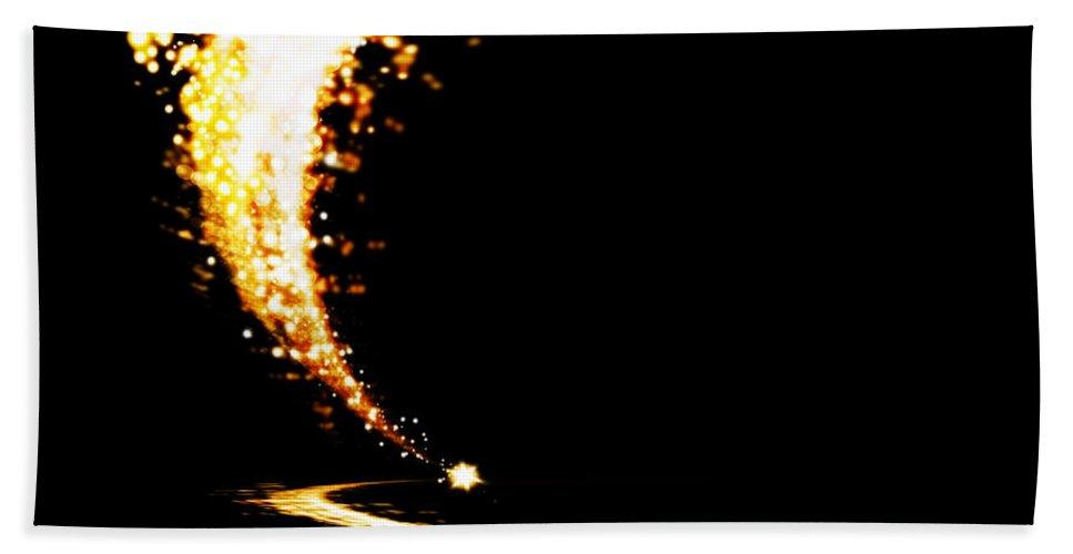 Abstract Bath Sheet featuring the photograph Lighting Explosion by Setsiri Silapasuwanchai