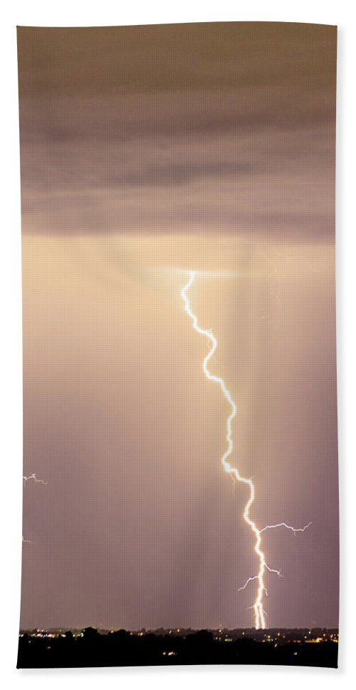 james Insogna Bath Sheet featuring the photograph Lightning Bolt With A Fork by James BO Insogna