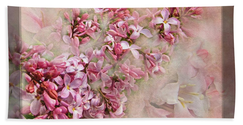 Bath Sheet featuring the photograph Lilacs And Wegia by Debbie Portwood