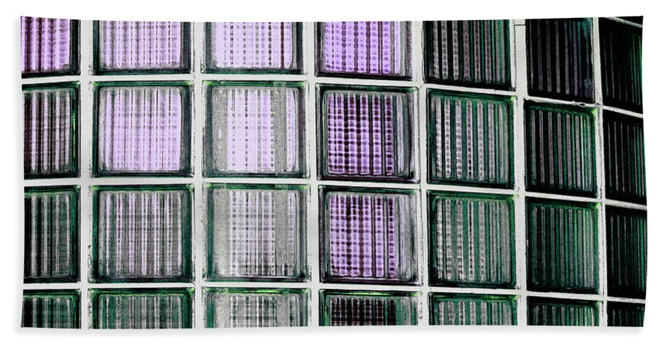 Lines Bath Sheet featuring the photograph Lines II - Retro by Bill Owen