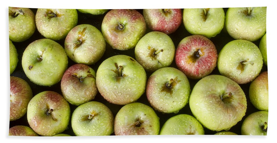 Apples Bath Sheet featuring the photograph Little Green Apples by James BO Insogna