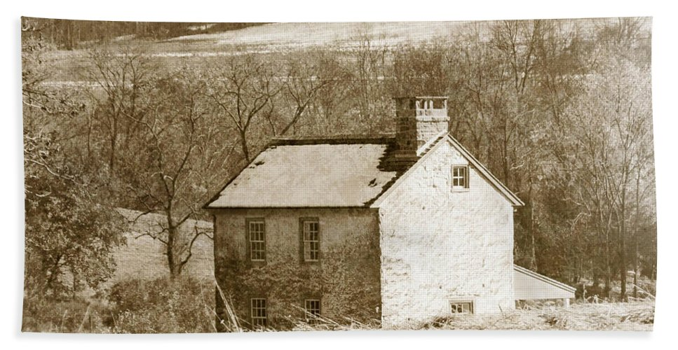 House Bath Sheet featuring the photograph Little House On The Prairie by Trish Tritz