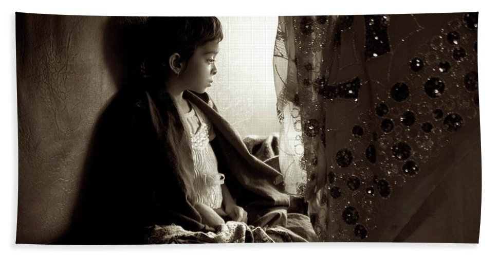 Children Bath Sheet featuring the photograph Little Lady by Valerie Rosen