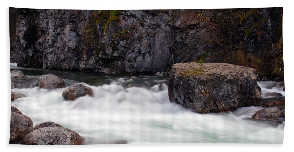 Doug Lloyd Hand Towel featuring the photograph Little Susitna River by Doug Lloyd