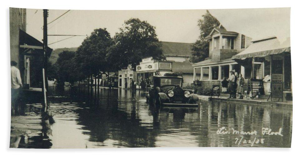 Catskills Bath Sheet featuring the photograph Livingston Manor - 1938 Flood by Ericamaxine Price