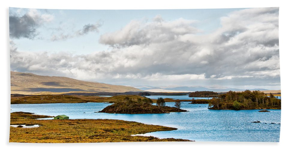Loch Ba Bath Sheet featuring the photograph Loch Ba View by Chris Thaxter