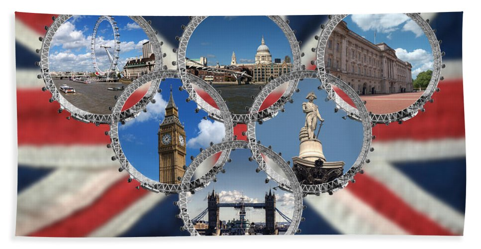 London Bath Sheet featuring the photograph London Scenes by Chris Day