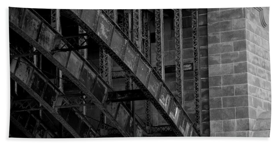 Black Hand Towel featuring the photograph Longfellow Bridge by Kevin Fortier