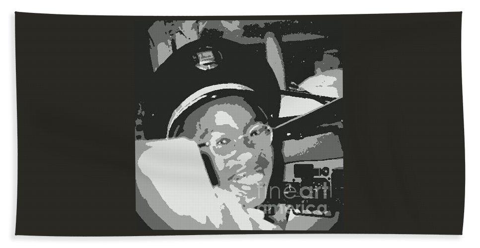 Little Boy Bath Sheet featuring the photograph Look Mom I'm A Pilot Now by Angela L Walker