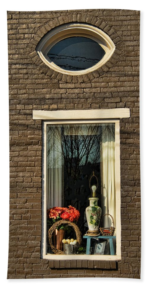 Window Bath Sheet featuring the photograph Look Within by Kathy Clark