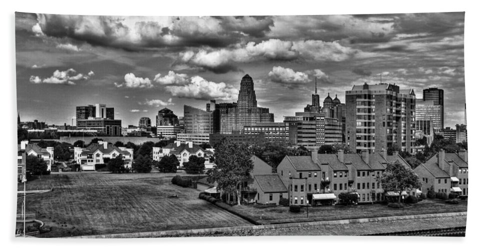 Bath Sheet featuring the photograph Looking Downtown From The Erie Basin Marina by Michael Frank Jr