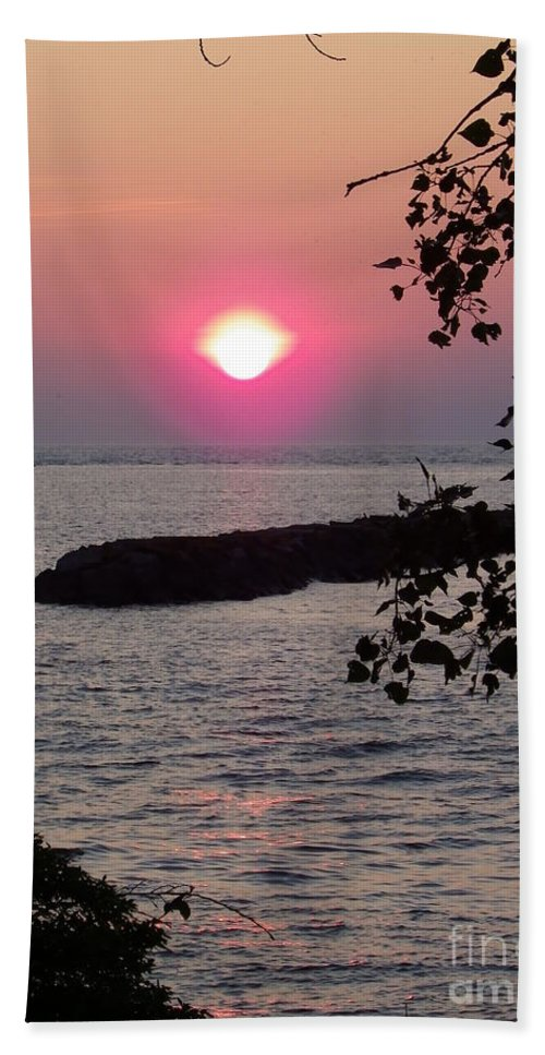 Sunset Bath Sheet featuring the photograph Looking Out by Charleen Treasures