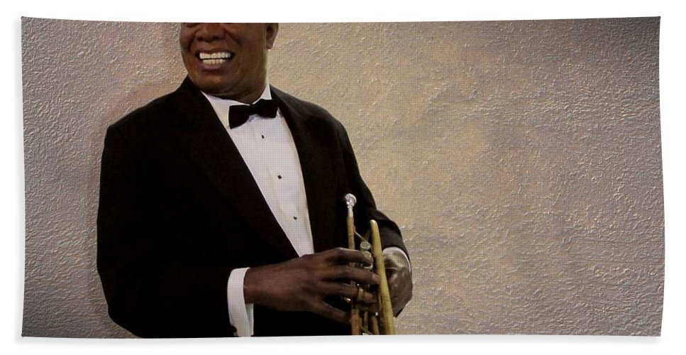 Louis Armstrong Bath Sheet featuring the photograph Louis Armstrong by David Dehner